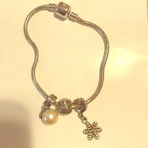 pandora bracelet with charms!